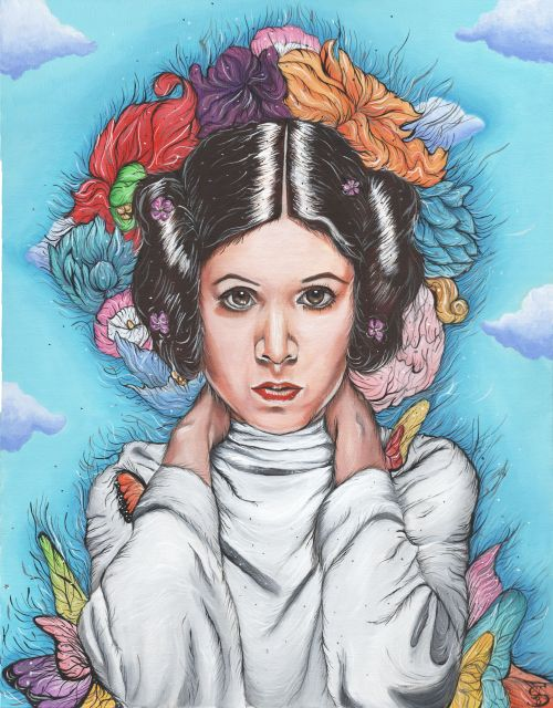Flowers For Princess Leia22 in. x 28 in. Acrylic on Canvas