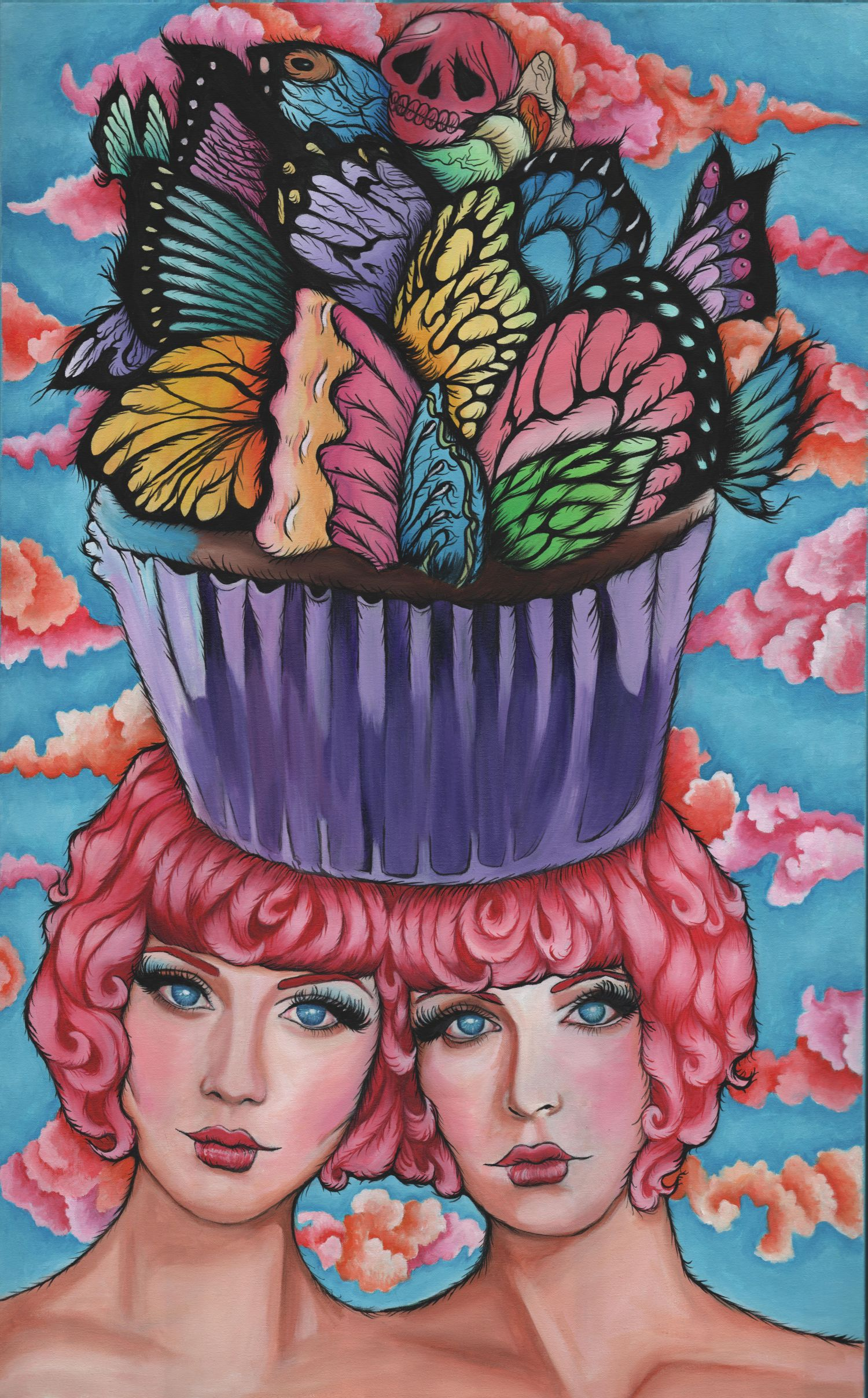 Cupcake Twins30 in. x 48 in. Acrylic on Canvas