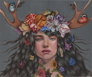Flower of the Woods24 in. x 20 in.Acrylic on Wood