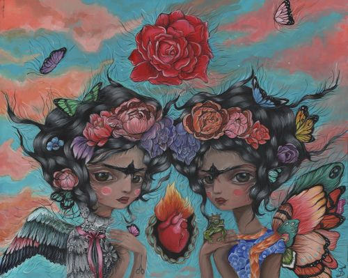 Pas De Deux Fridas11 in. x 14 in.Acrylic on WoodPrint Available
