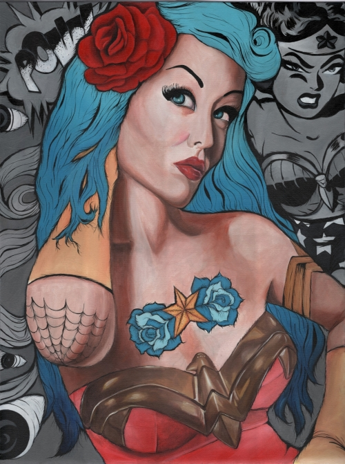The Amazing Wonder Woman30 in. x 40 in. FramedAcrylic on CanvasPrint Available!