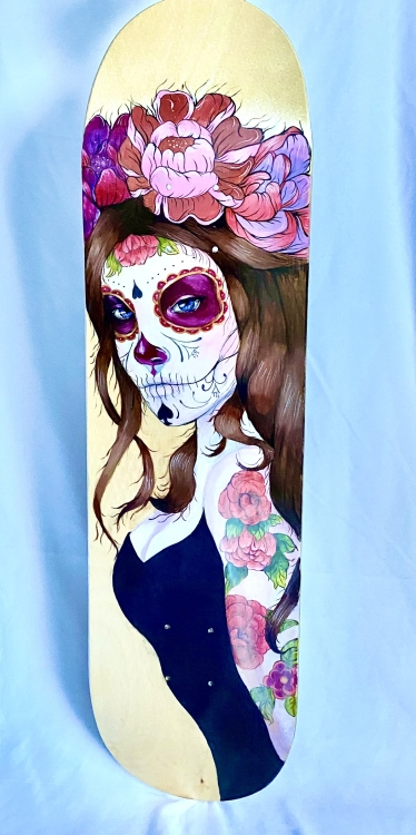 Skate Deck 0131 in. x 8 in.Acrylic on Skate DeckSOLD