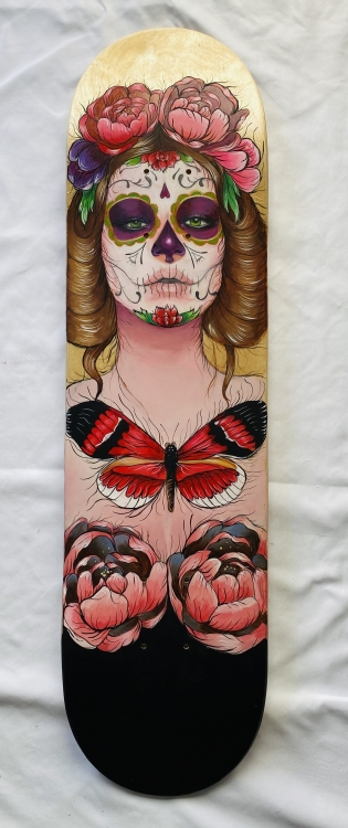 Skate Deck 0231 in. x 8 in.Acrylic on Skate DeckSOLD