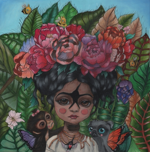 For the Love of Frida20 in. x 20 in.Acrylic on Wood